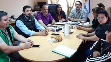 Satisfacción. El gremio y el Ejecutivo pudieron sellar otra relación laboral en la Municipalidad de Río Pico.