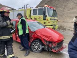 El martes hubo dos accidentes en el camino del centenario (foto @ornellavezzosso)
