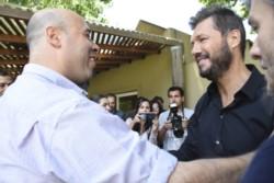 El empresario televisivo Marcelo Tinelli debutó en la actividad política en el marco del plan Argentina contra el Hambre.