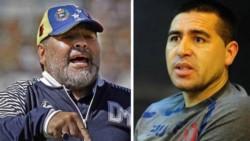 Maradona volvió a apuntar contra Riquelme a dos días de las elecciones en Boca.