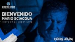 Godoy Cruz confirmó a Mario Sciacqua. Será presentado el próximo lunes.