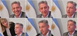 Transformado. El gobernador mostró inquietud con el armado de la conferencia de prensa y de a poco mutó su sonrisa a un rostro más serio.