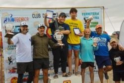 El podio con los ganadores de las 20 horas de pesca