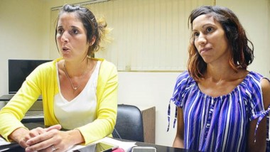 Carla Vernetti y Micaela Gómez, responsables de la Oficina de Adicciones de la municipalidad de Trelew