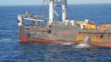 La Nave de bandera surcoreana fue capturada por los patrullajes en las costas de Chubut sobre milla 200.