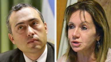 Juez Marcelo Nieto Di Biase. Silvia Pereira. Fiscal de la causa.