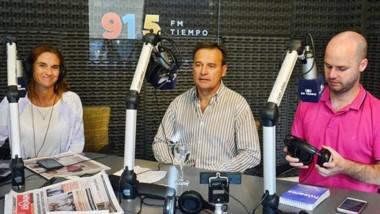 Mac Karthy pasó por los estudios de FM Tiempo y habló de la propuesta que encarará para la gobernación.