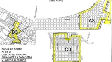 Los sectores de la ciudad que se verán afectados por el corte de agua potable anunciado por Servicoop..