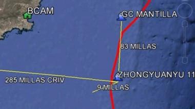 El choque se produjo cerca de las 2 a 9 millas de la costa chubutense.