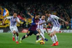 Messi metió uno de penal y erró otro, en la victoria 1-0 sobre Real Valladolid por la fecha 24.