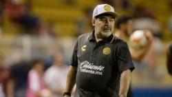 Maradona la pasó mal ante Atlante y, por primera vez como DT del Dorados (lo vivió desde la platea), sufrió media docena de goles.