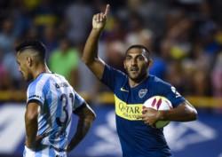 Así celebró Wanchope el 1-1 parcial de Boca contra Atlético Tucumán. Tercer grito para Ramón Ábila en esta Superliga.
