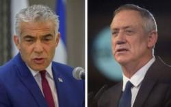 Gantz (a la derecha de la imagen) es un respetado ex militar, antiguo jefe del Estado Mayor, y el político centrista Yair Lapid