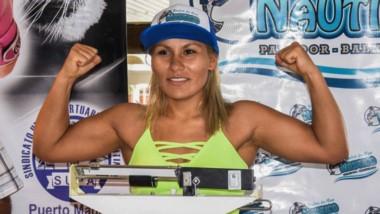 """En la balanza. """"La Leona"""" Lizbeth Crespo aspira a un título mundial, pero antes deberá superar un duro escollo: la experimentada Marisa Núñez."""