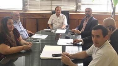 El encuentro ayer entre el Gobierno y la Federación de Cooperativas.