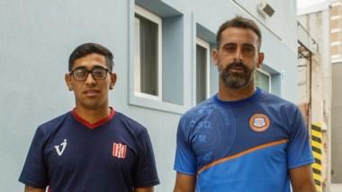 Brian Castillo y Alejandro Giardino, volante de Racing y arquero de Moreno, dos de los titulares de hoy.