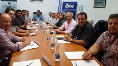 Cumbre e inquietudes. Un nuevo encuentro de las autoridades de la Federación Empresaria del Chubut.