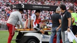 Nacho Fernández salió lesionado en la victoria ante San Martín de Tucumán. Dos semanas afuera.