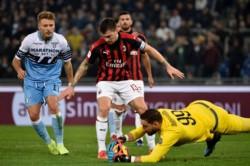 Lazio fue más ofensivamente pero Milan supo cerrar los espacios.