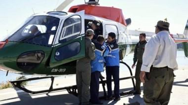Durante un procedimiento de la fuerza de gendarmes, la deportista fue llevada a bordo de un helicóptero.