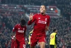 Con un doblete de Mané, otro de Van Dijk y un gol de Origi, Liverpool derrotó 5-0 al Watford como local.