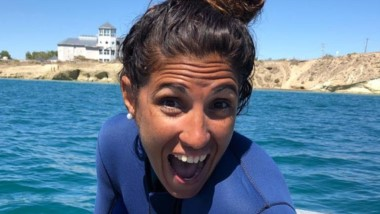 Florencia Ibarra disfrutó del snorkeling con lobos marinos.