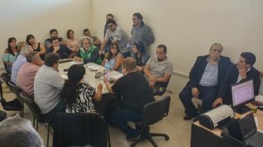 La negociación que durante más de cuatro horas se llevó a cabo en la delegación de Trabajo de Trelew.