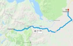 La localidad chilena de Futaleufú está en el área fronteriza con Argentina (imagen google maps)