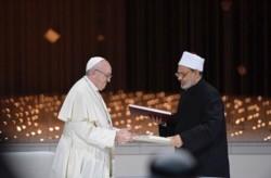 El Sumo Pontífice y el Gran Imán de Al-Azhar, firmaron una histórica Declaración