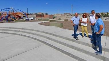 Se finalizaron los trabajos de la plaza El Maitén.