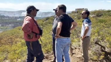 El ministro de la Producción, Hernán Alonso, recorrió ayer la zona.