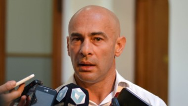El ministro de Gobierno, Federico Massoni.