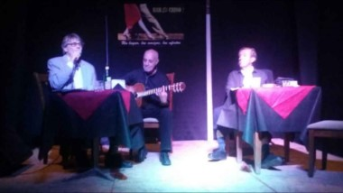 Luis Alberto Jones, Fernando Asciutto y Rafael Terranova protagonistas de la obra teatral.