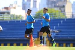 Alfaro probó el mismo equipo que venció a Godoy Cruz pensando en Belgrano de Córdoba. Luego, ingresaron Almendra (por Reynoso) y Zárate (por Tevez).