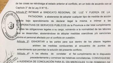 La resolución dictada por la Secretaría de Trabajo de la provincia.
