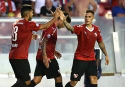 Yeimar Andrade en contra y Fernando Gaibor, de penal, los goles del Rojo.