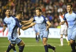 Stuani le da la victoria al Girona por 0-2 en Vallecas. Se hunde el Rayo, respira el Girona.