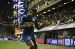 Villa cerró la goleada. El colombiano fue una de las grandes figuras que hoy tuvo Boca.