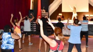 Baile. El evento solidario se llevó a cabo ayer en el Centro Cultural.