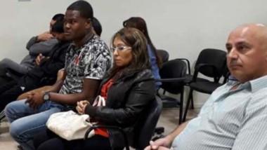 Audiencia. Las personas que se encuentran en juicio podrían recibir altas condenas de primera instancia.