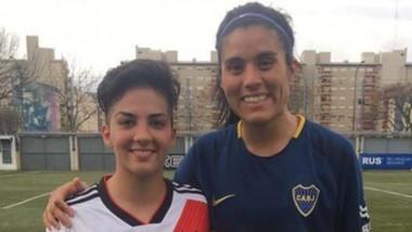 Flor Fernández y Yoko Barrera, las principales exponentes del fútbol de Chubut en los clubes más grandes.