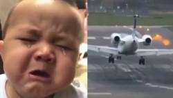 """""""Este vuelo solicita regresar. Una pasajera olvidó a su bebé en la sala de espera. Pobres"""", explicó el capitán."""