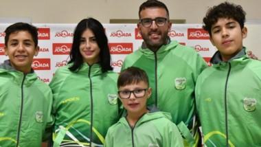 Una delegación de 4 jóvenes atletas trelewenses viajó junto a su profe, Matías Schiel, a competir a Mendoza.