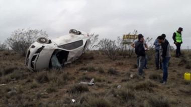 El siniestro vehicular afortunadamente no tuvo consecuencias de gravedad en el único tripulante.