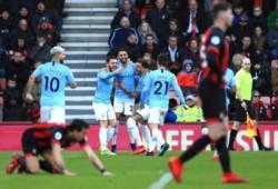 Manchester City se lleva un apretado triunfo sobre el Bournemouth con solitario gol de Mahrez.