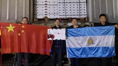 El cargamento con cerezas provenientes de Chubut pasó la prueba de calidad y se vendió rápidamente.