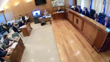 Partes. Una postal de la sala de audiencias del STJ en la capital, donde en dos días se escuchó el testimonio de varios testigos y se decidió.