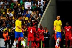 Panamá festejó su primer gol ante Brasil y consiguió el primer empate de su vida futbolística ante la Verdeamarela.