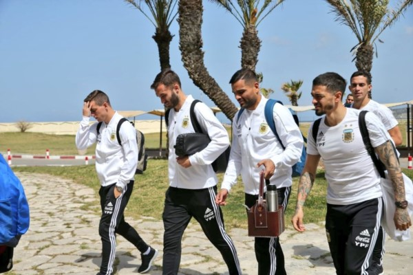 Argentina ya está en Tánger para disputar su segundo partido de la gira.