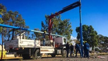 Los equipos de la Cooperativa ya trabajan en distintos sectores de la ciudad.